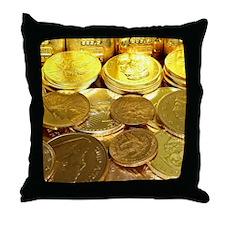 Gold Hoard Throw Pillow