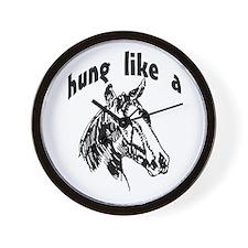Hung like a horse Wall Clock