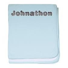 Johnathon Wolf baby blanket