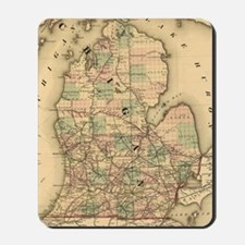 Vintage Map of The Michigan Railroads (1 Mousepad