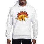 Stegosaurus colorful Hooded Dinosaur Sweatshirt