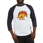 Stegosaurus Colorful Dinosaur Baseball Jersey