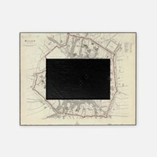 Vintage Map of Milan Italy (1832) Picture Frame
