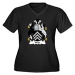 Wise Family Crest Women's Plus Size V-Neck Dark T