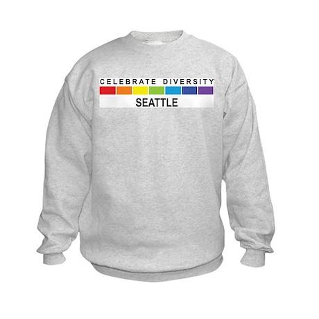 SEATTLE - Celebrate Diversity Kids Sweatshirt