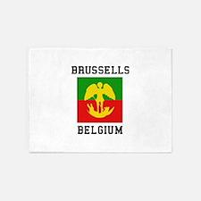 Brussells Belgium 5'x7'Area Rug