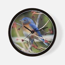 Red Bud Bluebird Wall Clock
