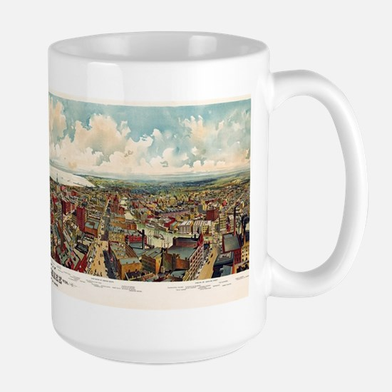 Vintage Pictorial Map of Milwaukee WI ( Large Mug