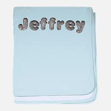Jeffrey Wolf baby blanket