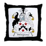 Wingrove Family Crest Throw Pillow