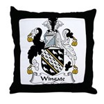 Wingate Family Crest Throw Pillow