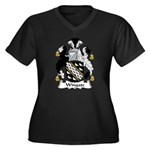 Wingate Family Crest Women's Plus Size V-Neck Dark