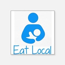 "Cute Breastfeeding Square Sticker 3"" x 3"""