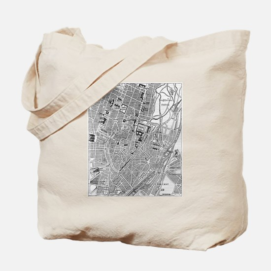Vintage Map of Munich Germany (1884) Tote Bag