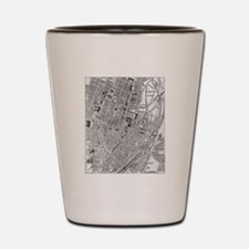 Vintage Map of Munich Germany (1884) Shot Glass