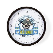 Law Enforcement K9 Unit Wall Clock