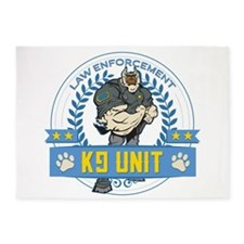Law Enforcement K9 Unit 5'x7'Area Rug
