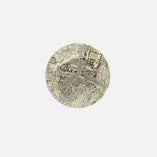 Vintage Map of Munich Germany (1832) Mini Button