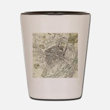 Vintage Map of Munich Germany (1832) Shot Glass