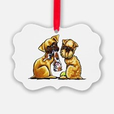 Griffs and Toys Ornament