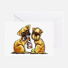 Griffs and Toys Greeting Cards
