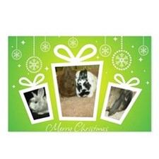 Mixed Bunnies Xmas Postcards (Package of 8)