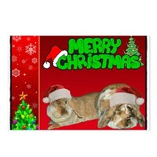 Mini Lop Xmas Postcards (Package of 8)