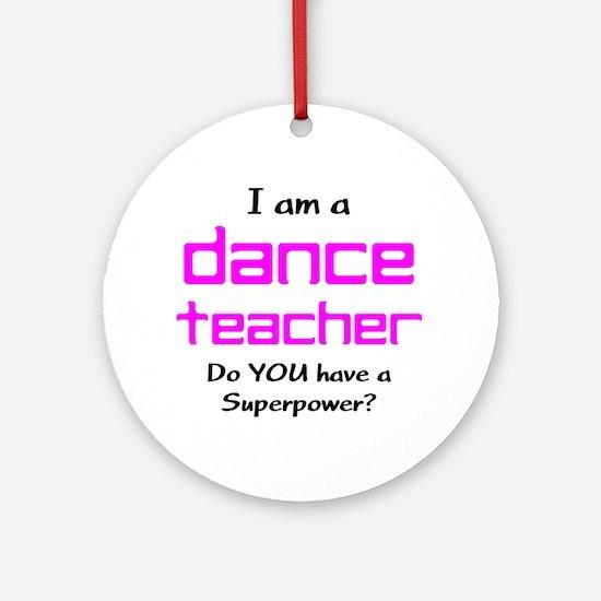 Dance Teacher Ornament (Round)