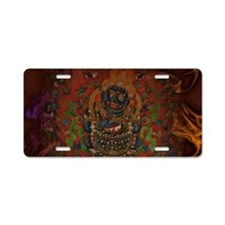 Mahakala from Buddhism Aluminum License Plate