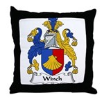 Winch Family Crest Throw Pillow