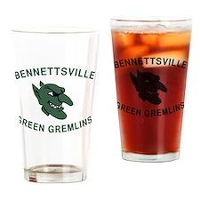 Gremlins in Green Drinking Glass