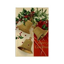 Christmas Bells Rectangle Magnet
