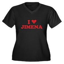 I LOVE JIMENA Women's Plus Size V-Neck Dark T-Shir