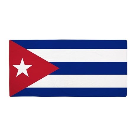 Flag Of Cuba Beach Towel By Worldsoccerstore