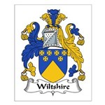 Wiltshire Family Crest Small Poster