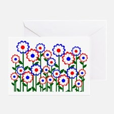 Retro Spring Flowers Greeting Card