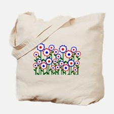 Retro Spring Flowers Tote Bag