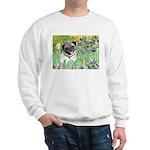 Irises / Pug Sweatshirt