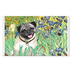 Irises / Pug Decal