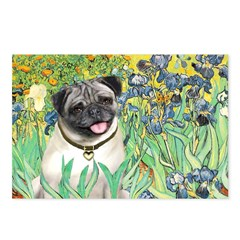 Irises / Pug Postcards (Package of 8)