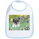 Irises / Pug Bib