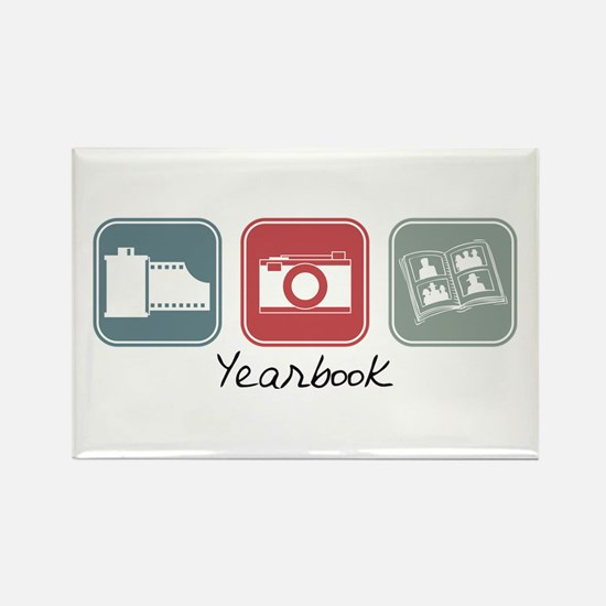 Yearbook (Squares) Rectangle Magnet