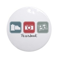 Yearbook (Squares) Ornament (Round)