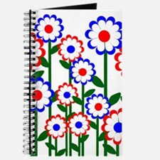 Retro Spring Flowers Journal