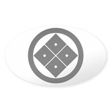 Tilted four-square-eyes in circle Decal