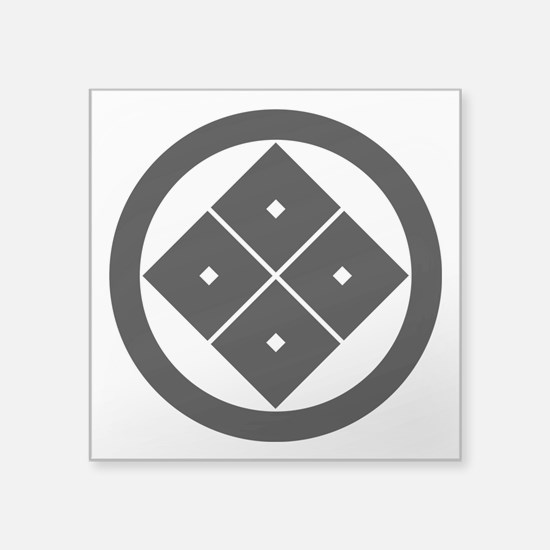 Tilted four-square-eyes in circle Sticker