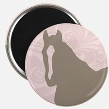 Pink and Brown Country Horse Girl Magnets