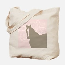 Pink and Brown Country Horse Girl Tote Bag