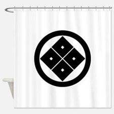 Tilted four-square-eyes in circle Shower Curtain