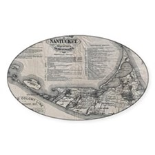 Vintage Nantucket Map Decal